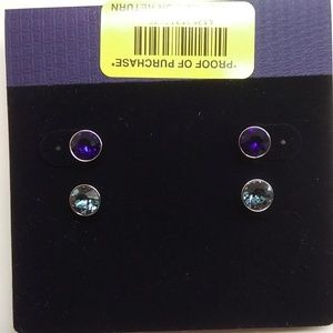 Swarovski New Royal Blue and Blue Stud Earrings